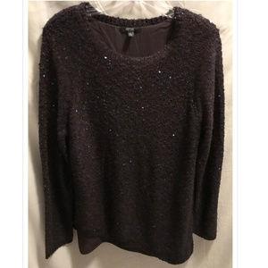 Size XL Apt. 9 Sweater Purple Sparkle